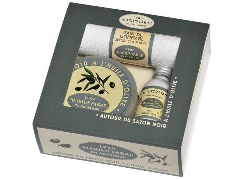 """Coffret """"Autour du savon noir à l'huile d'olive"""""""